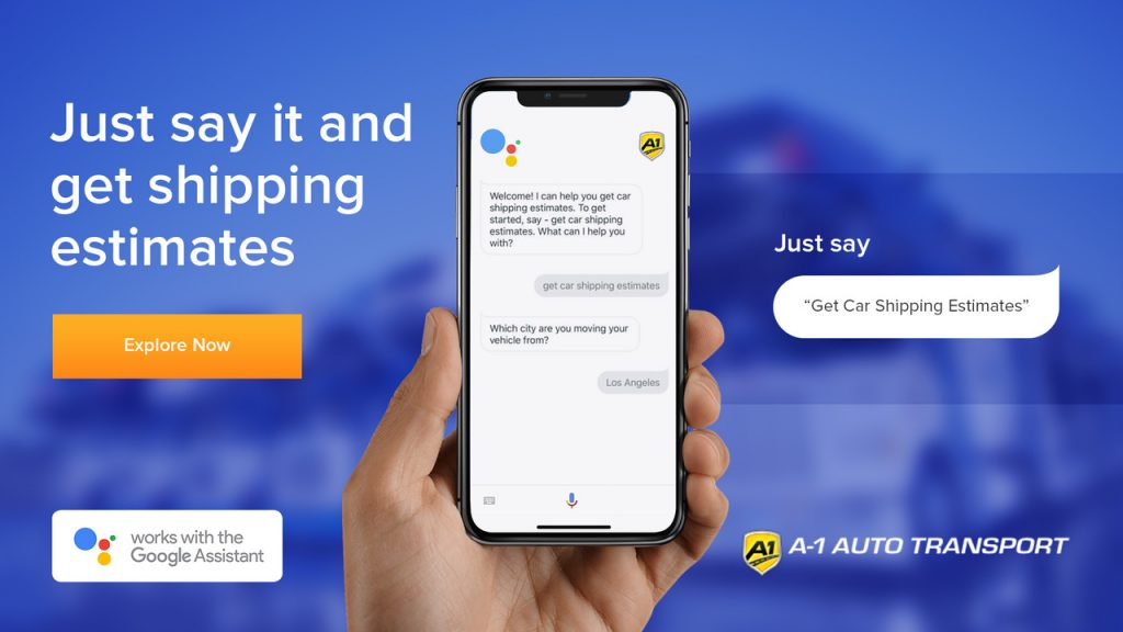 Car Shipping Google Assistant Action Info Graphic